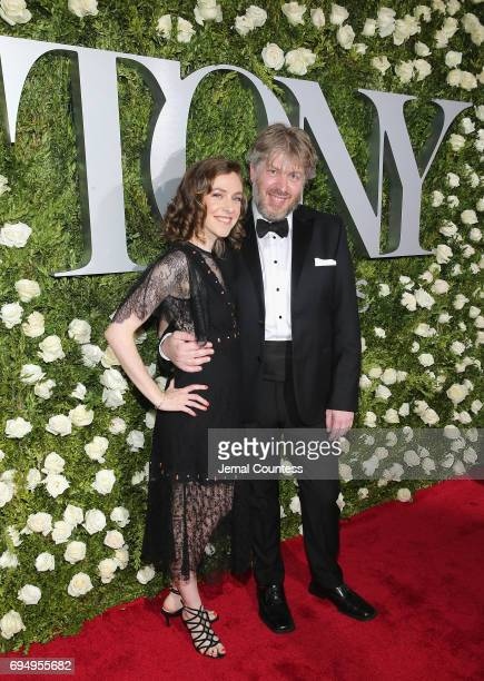 Eliza Bent and Dave Malloy attend the 2017 Tony Awards at Radio City Music Hall on June 11 2017 in New York City