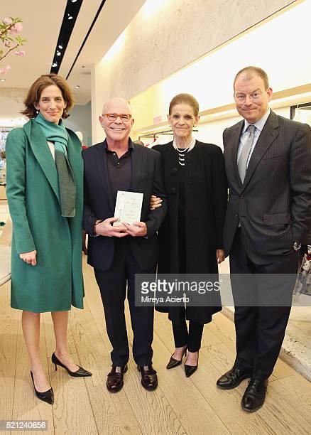 Eliza Bolen author William Norwich philanthropist Annette de la Renta and chief executive officer at Oscar de la Renta Alex Bolen attend the William...