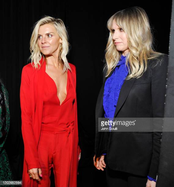 Eliza Coupe and Lucy Punch attend the 22nd CDGA at The Beverly Hilton Hotel on January 28 2020 in Beverly Hills California