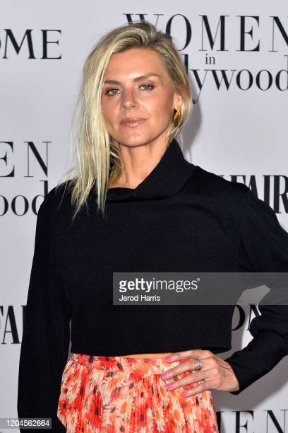 Eliza Coupe arrives at Vanity Fair and Lancôme Women In Hollywood Celebration at Soho House on February 06 2020 in West Hollywood California