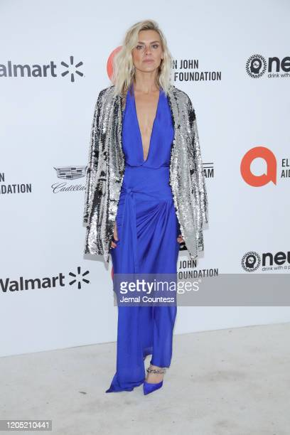 Eliza Coupe attends the 28th Annual Elton John AIDS Foundation Academy Awards Viewing Party sponsored by IMDb Neuro Drinks and Walmart on February 09...