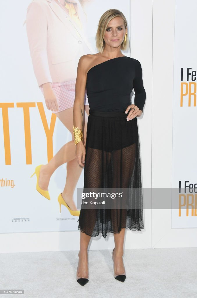 Eliza Coupe attends the premiere of STX Films' 'I Feel Pretty' at Westwood Village Theatre on April 17, 2018 in Westwood, California.
