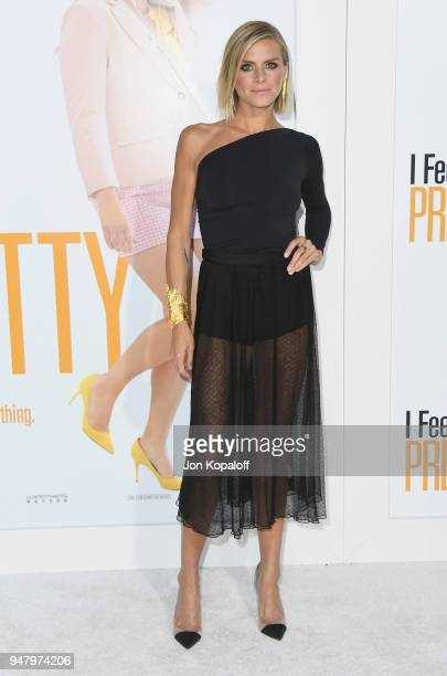 Eliza Coupe attends the premiere of STX Films' 'I Feel Pretty' at Westwood Village Theatre on April 17 2018 in Westwood California