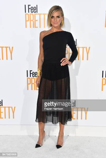 Eliza Coupe attends the Premiere Of STX Films' I Feel Pretty at Westwood Village Theatre on April 17 2018 in Westwood California