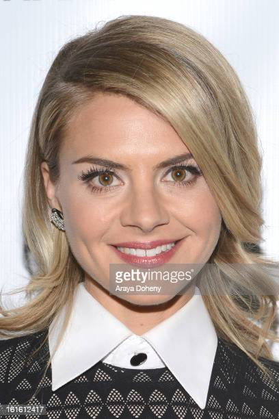 Eliza Coupe attends the 'Shanghai Calling' Los Angeles premiere at TCL Chinese Theatre on February 12 2013 in Hollywood California