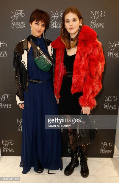 Eliza Cummings and Frankie Herbert attend the NARS Kings Road Opening Party on January 17 2018 in London United Kingdom