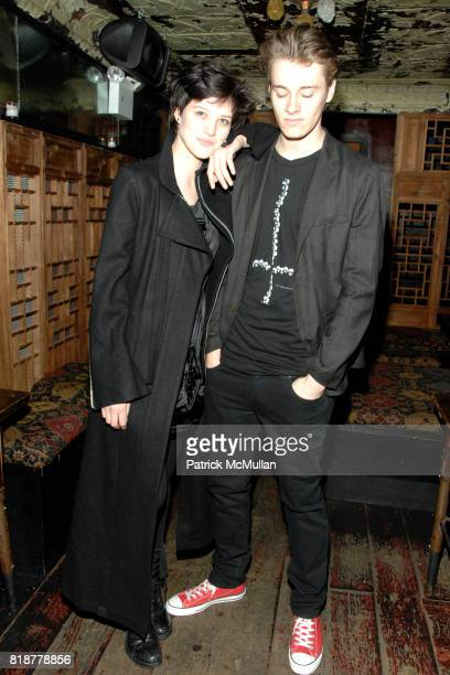 Eliza Cummings and Luke Stevens attend Chaning Tatum's 30th birthday party hosted by Neil Grayson and Reid Carolin at Macao Trading Company on April...