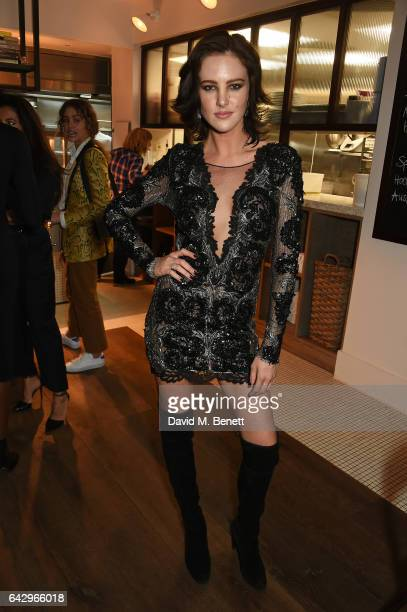 Eliza Cummings arrives as Topshop and Leandra Medine host dinner to celebrate London Fashion Week on February 19 2017 in London England