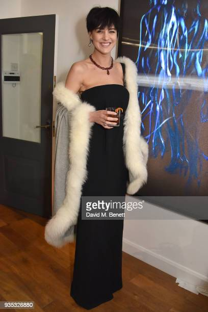 Eliza Cummings attends an exclusive dinner celebrating Derrick Santini's exhibition Float Fly curated by Mark Broadbent of 'Bread Honey' at The...