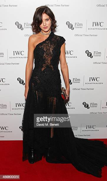Eliza Cummings attends the BFI London Film Festival IWC Gala Dinner in honour of the BFI at Battersea Evolution Marquee on October 7 2014 in London...