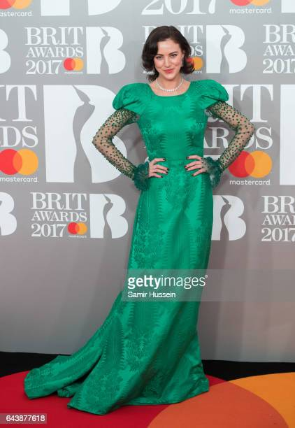 ONLY Eliza Cummings attends The BRIT Awards 2017 at The O2 Arena on February 22 2017 in London England