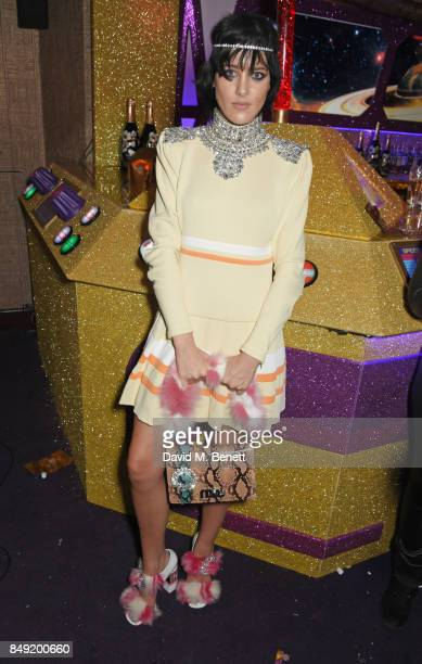 Eliza Cummings attends the LOVE magazine x Miu Miu party held during London Fashion Week in association with Absolut Elyx Perrier Jouet at Loulou's...