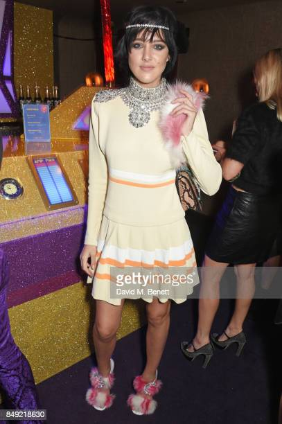 Eliza Cummings attends the LOVE magazine x Miu Miu party held during London Fashion Week in association with Perrier Jouet at Loulou's on September...