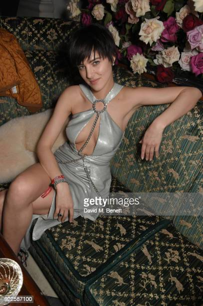 Eliza Cummings attends the Universal Music BRIT Awards After-Party 2018 hosted by Soho House and Bacardi at The Ned on February 21, 2018 in London,...