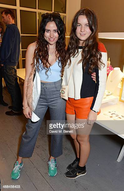 Eliza Doolittle and Amba Jackson attend the launch of the new 'Jade Jagger' New Bond Street showroom on May 6 2014 in London England