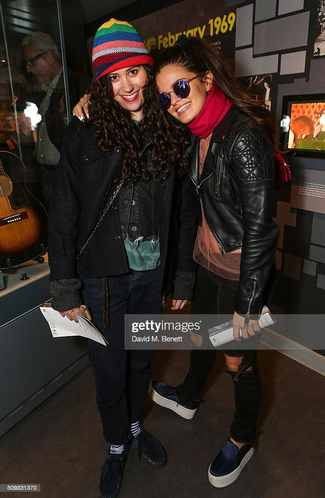 Eliza Doolittle (L) and Bip Ling attends a private view of 'Hendrix At Home' at Jimi Hendrix's restored former Mayfair flat on February 9, 2016 in London, England.