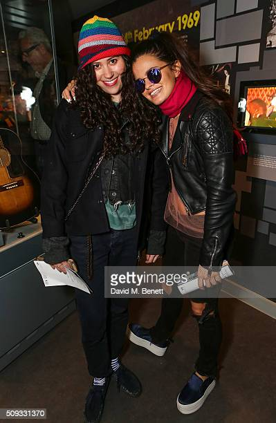 Eliza Doolittle and Bip Ling attends a private view of 'Hendrix At Home' at Jimi Hendrix's restored former Mayfair flat on February 9 2016 in London...