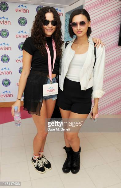Eliza Doolittle and Leah Weller attend the evian 'Live young' VIP Suite at Wimbledon on June 25 2012 in London England