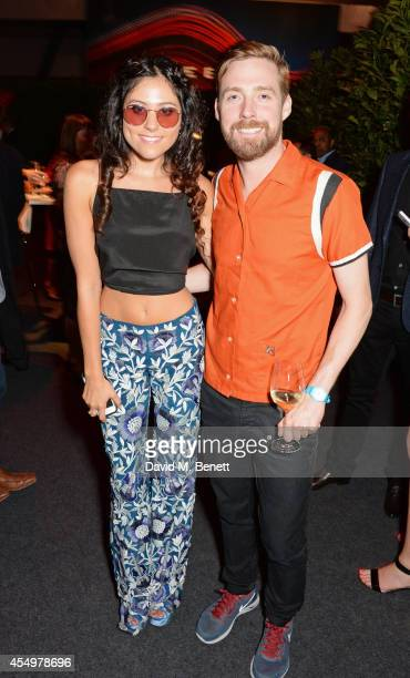 Eliza Doolittle and Ricky Wilson attend as guests of Jaguar at the global reveal of the new XE in London at Earls Court on September 8 2014 in London...