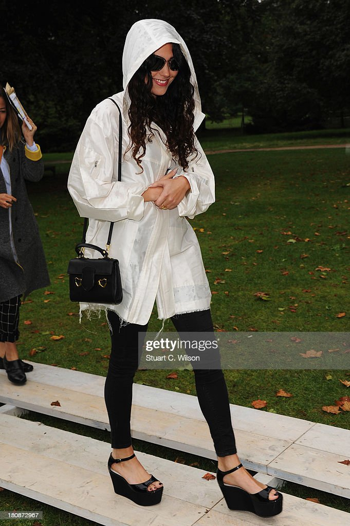 Eliza Doolittle attends the Fashion East show during London Fashion Week SS14 at TopShop Show Space on September 17, 2013 in London, England.