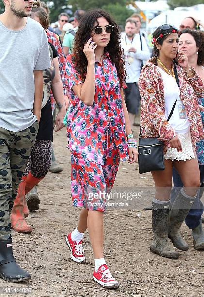 Eliza Doolittle attends the Glastonbury Festival at Worthy Farm on June 29 2014 in Glastonbury England