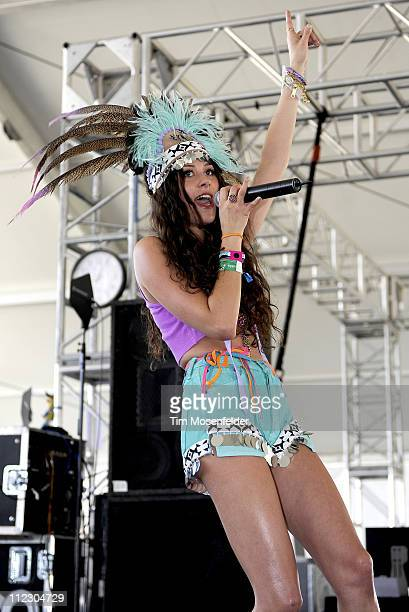 Eliza Doolittle perform as part of the 2011 Coachella Valley Music Arts Festival at the Empire Polo Field on April 17 2011 in Indio California