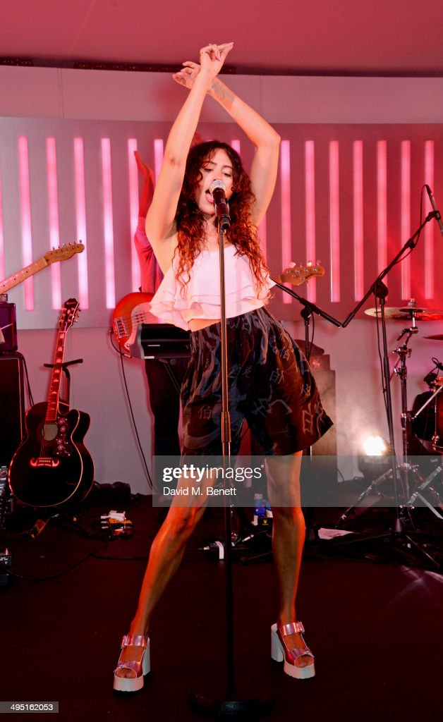 Eliza Doolittle performs at day two of the Audi Polo Challenge at Coworth Park Polo Club on June 1, 2014 in Ascot, England.