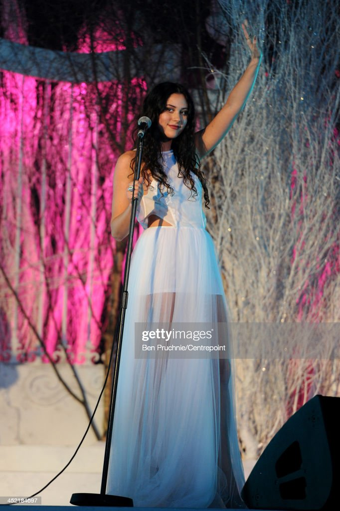 Eliza Doolittle performs during the Winter Whites Gala In Aid Of Centrepoint on November 26, 2013 in London, England.