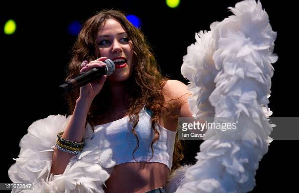 Eliza Doolittle performs live during day 2 of the V Festival in Hylands Park on August 21 2011 in Chelmsford United Kingdom