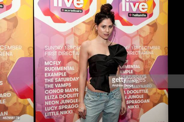 Eliza Doolittle poses back stage for Xmas Party Live 2013 at First Direct Arena on December 1, 2013 in Leeds, United Kingdom.