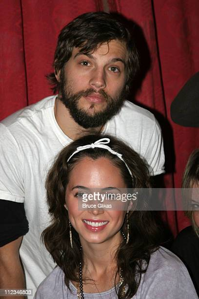 Eliza Dushku and Logan MarshallGreen during OffBroadway 'Dog Sees God Confessions of a Teenage Blockhead' Rehearsals November 15 2005 at Century...