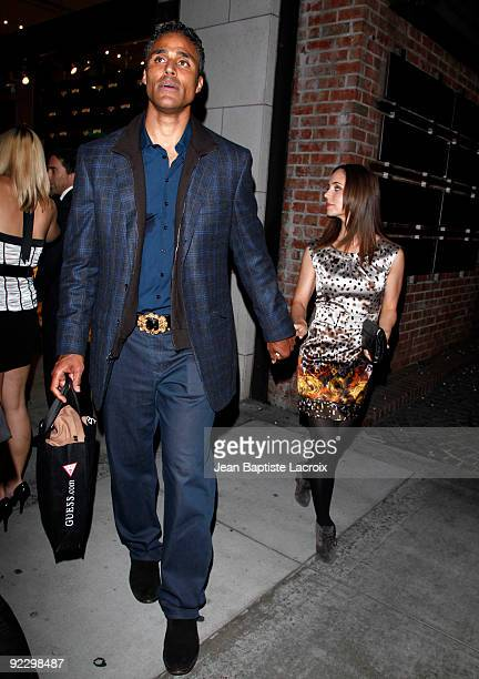 Eliza Dushku and Rick Fox sighting in Beverly Hills on October 22 2009 in Los Angeles California
