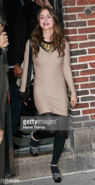 Eliza Dushku and Rick Fox visit 'Late Show with David Letterman' at the Ed Sullivan Theater on October 6 2009 in New York City