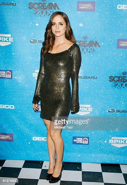 Eliza Dushku arrives to Spike TV's 2009 'Scream' Awards held at The Greek Theatre on October 17 2009 in Los Angeles California