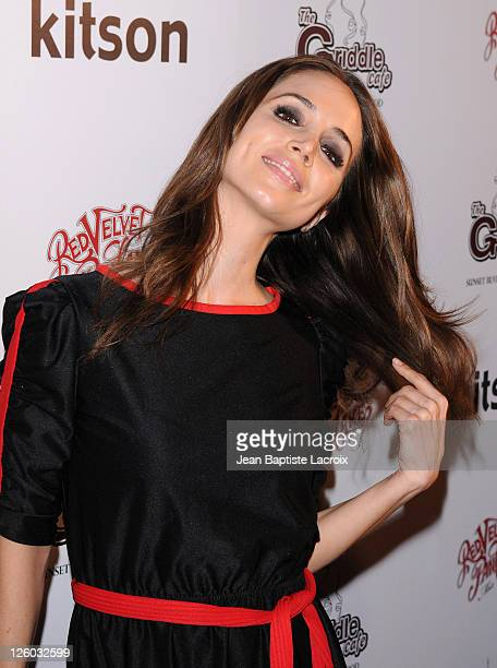 Eliza Dushku attends the Griddle Cafe's Red Velvet Pancake Mix Launch at Kitson on Roberston on January 13 2011 in Beverly Hills California