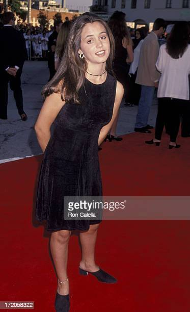 Eliza Dushku attends the world premiere of 'True Lies' on July 12 1994 at Mann Village Theater in Westwood California