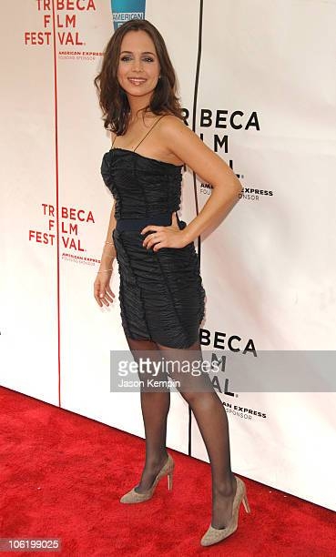 Eliza Dushku during 6th Annual Tribeca Film Festival 'Noble Son' Arrivals at Clearview Chelsea West in New York City New York United States