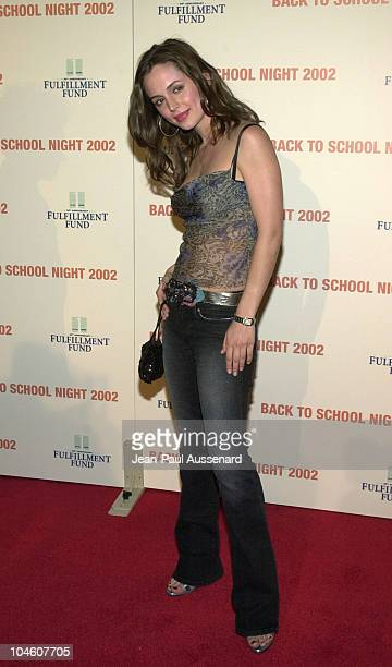 Eliza Dushku during Fulfillment Fund's 3rd Annual 'Back to School Night' at Jim Henson Studios in Los Angeles California United States