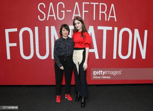 Eliza Hittman and Talia Ryder attends SAGAFTRA Foundation Conversations Never Rarely Sometimes Always at The Robin Williams Center on March 10 2020...