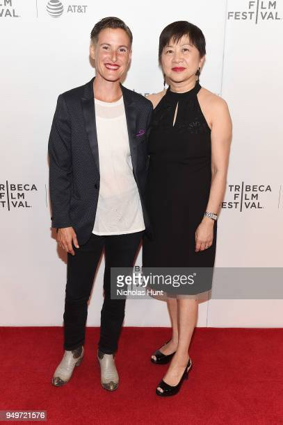 Eliza Hook and Hon Toko Serita attend a screening of 'Blowin' Up' during the 2018 Tribeca Film Festival at Cinepolis Chelsea on April 21 2018 in New...
