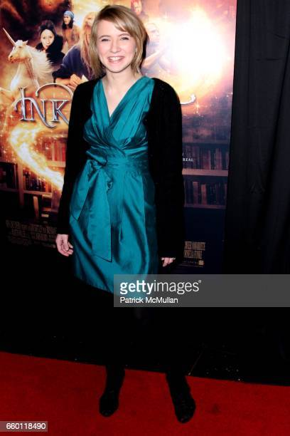 Eliza Hope Bennett attends The New York Premiere of INKHEART at AMC Loews Lincoln Square on January 15 2009 in New York City