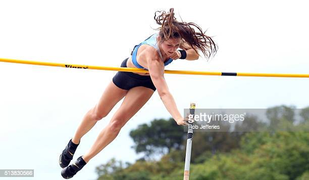 Eliza McCartney of Auckland competes in the Womens Pole Vault Final during the 2016 National Track Field Championships on March 5 2016 in Dunedin New...