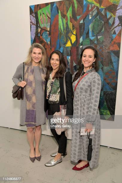 Eliza Osborne Naomi Baiell and Reece Mealy attend the ALAC Premiere 10th Anniversary Edition Opening Night at Barker Hangar on February 13 2019 in...