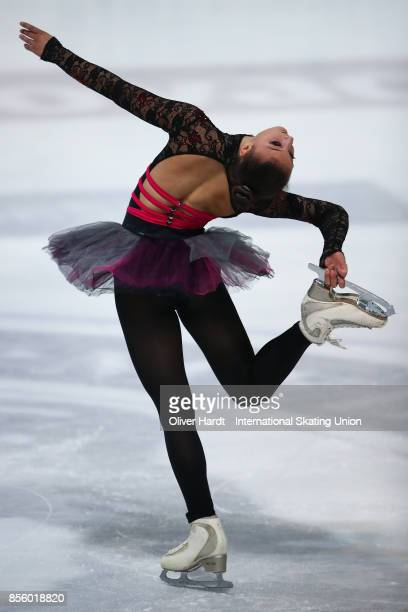 Eliza Pancheva of Bulgaria performs in the Junior Ladies Free Skating Program during day four of the ISU Junior Grand Prix of Figure Skating at Dom...
