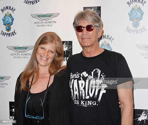 Eliza Roberts and Eric Roberts attend the VIP opening reception for 'DisEase' an evening of fine art with Billy Morrison at Mouche Gallery on...