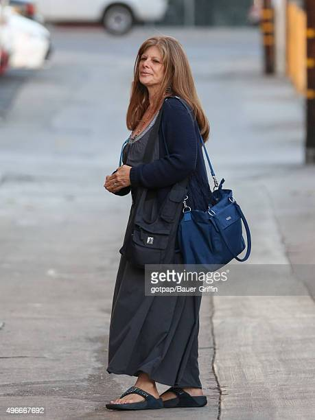 Eliza Roberts is seen arriving at Jimmy Kimmel Live on November 10 2015 in Los Angeles California