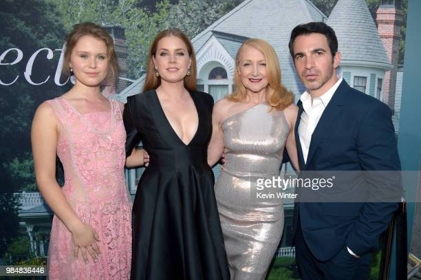 Eliza Scanlen Amy Adams Patricia Clarkson and Chris Messina attend the premiere of HBO's 'Sharp Objects' at The Cinerama Dome on June 26 2018 in Los...