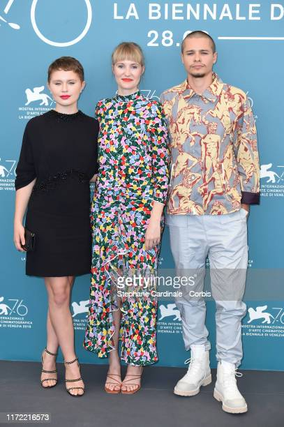 Eliza Scanlen Shannon Murphy and Toby Wallace attend Babyteeth photocall during the 76th Venice Film Festival on September 04 2019 in Venice Italy