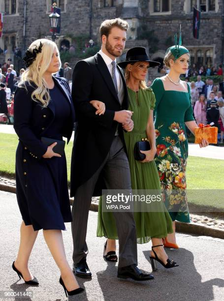 Eliza Spencer Louis Spencer Victoria Aitken and Kitty Spencer arrive for the wedding ceremony of Britain's Prince Harry and US actress Meghan Markle...