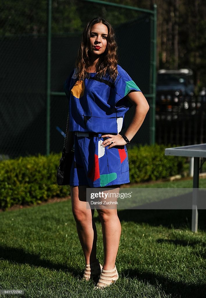 Eliza Sterling attends The Daily Summer's celebration of Marion Bartoli's new LOVE FILA collection at Hampton Racquet on June 18, 2016 in East Hampton, New York.